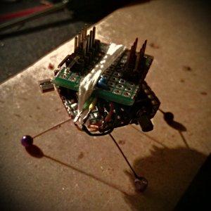 Vibrating robot chassis