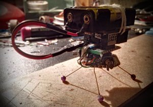 Tinusaur powered vibrating robot