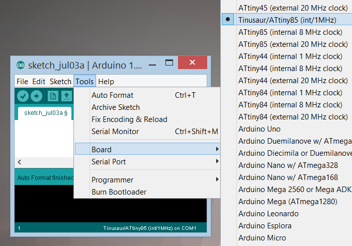 Arduino IDE Boards