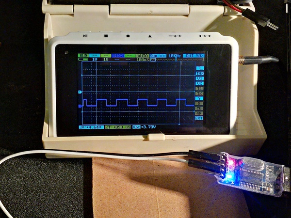 Oscilloscope Serial Signal