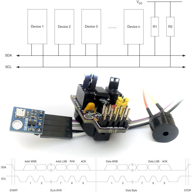 Working with BMP180 Pressure Sensor and ATtiny85 using