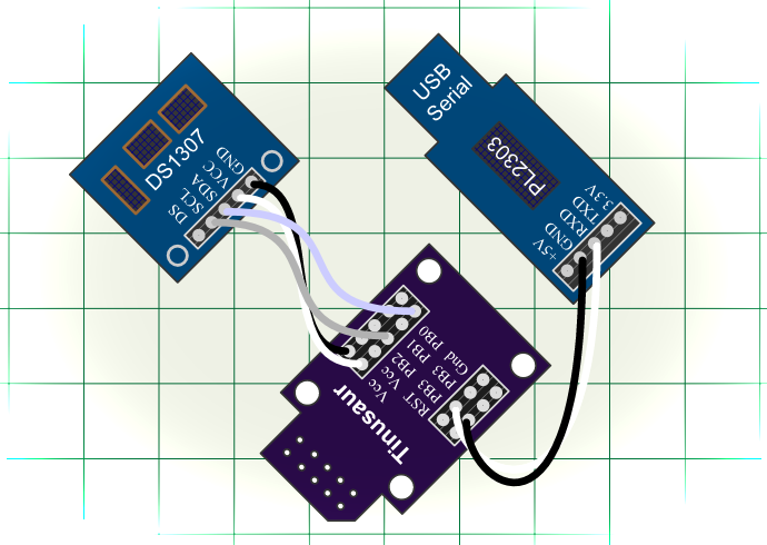 DS1307 Serial Real-Time Clock USITWIX Tinusaur.