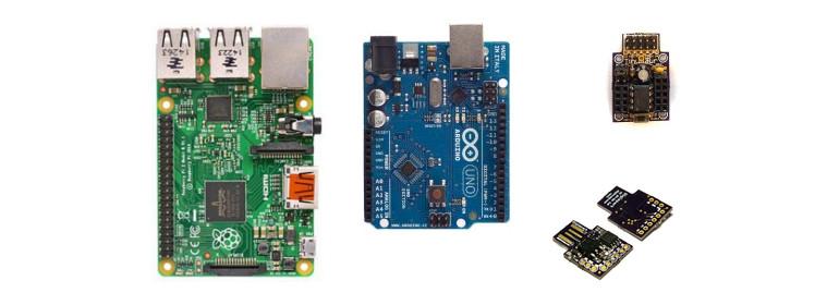 Compare Raspberry Pi, Arduino Uno, ATtiny85 Tinusaur