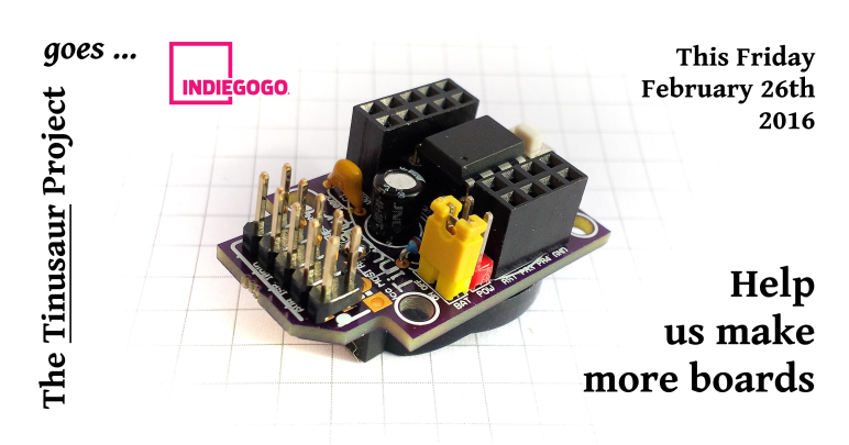 Indiegogo Tinusaur ATtiny85 Quick Start Boards