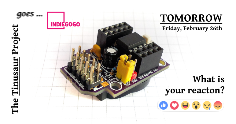 Indiegogo Crowdfunding Tinusaur ATtiny85 Quick Start Boards