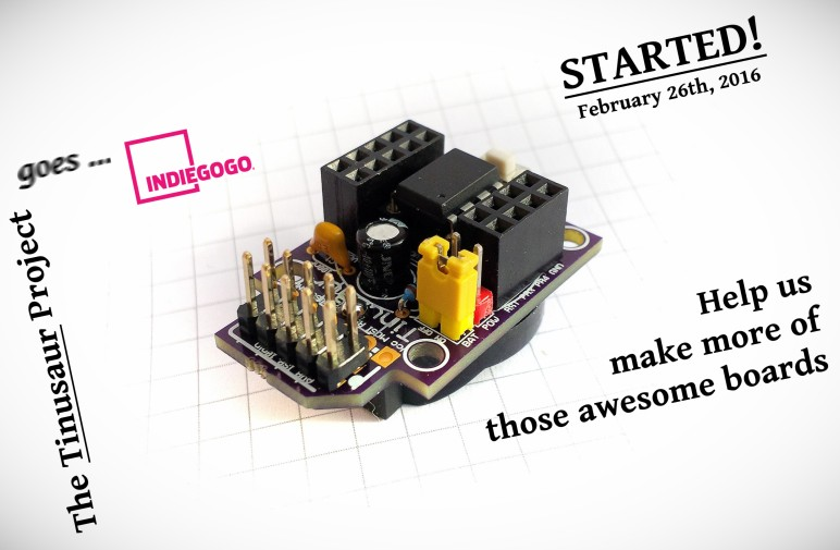 Tinusaur Indiegogo Crowdfunding Campaign Launched