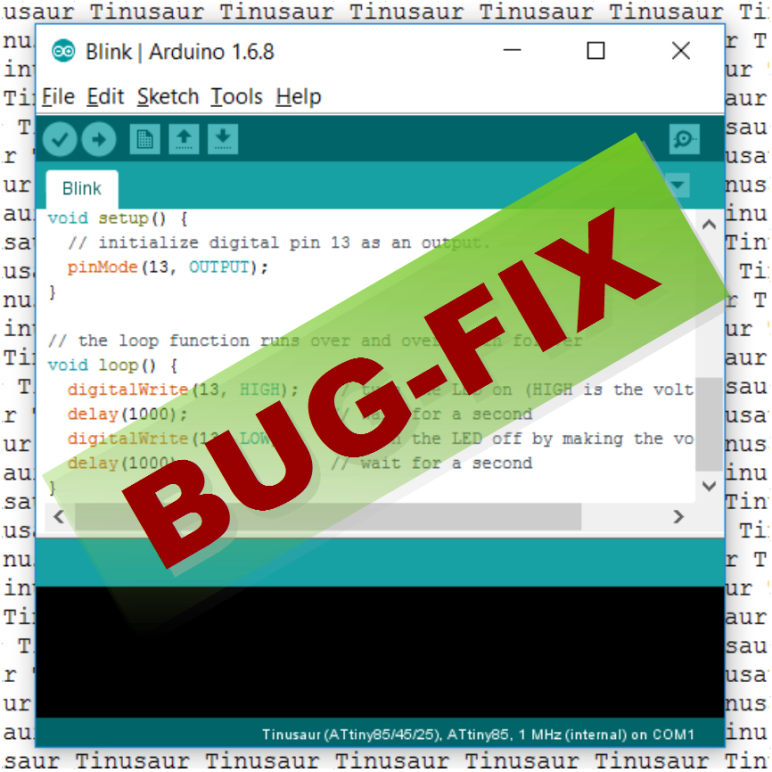 Tinusaur Arduino IDE Package Bug Fix