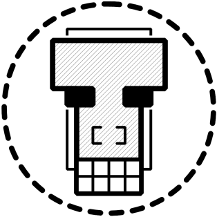 Tinusaur Blocktinu Logo