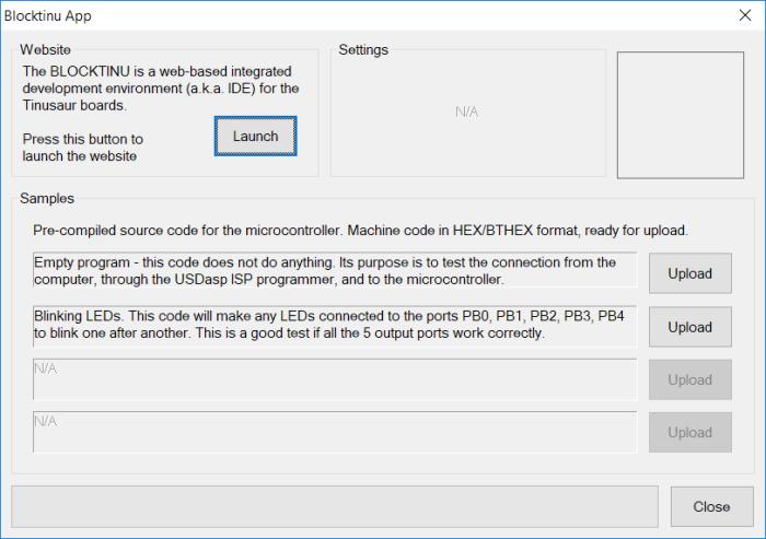Blocktinu Windows Desktop Application