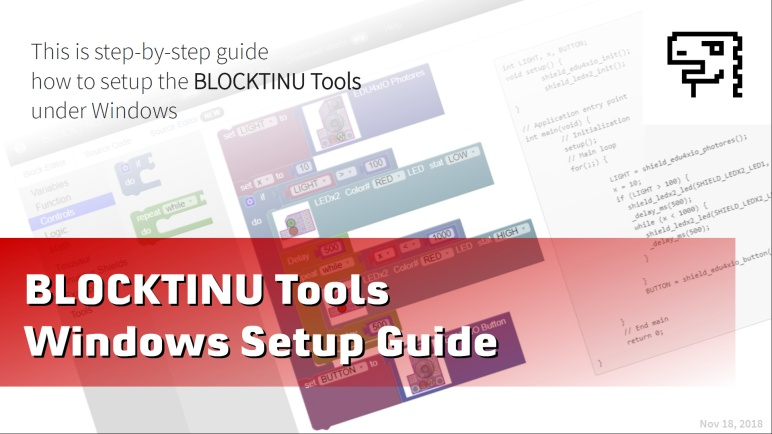 Blocktinu Tools - Windows Setup (slides)