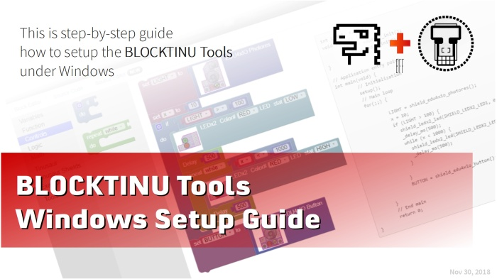 Blocktinu Tools – Windows Setup