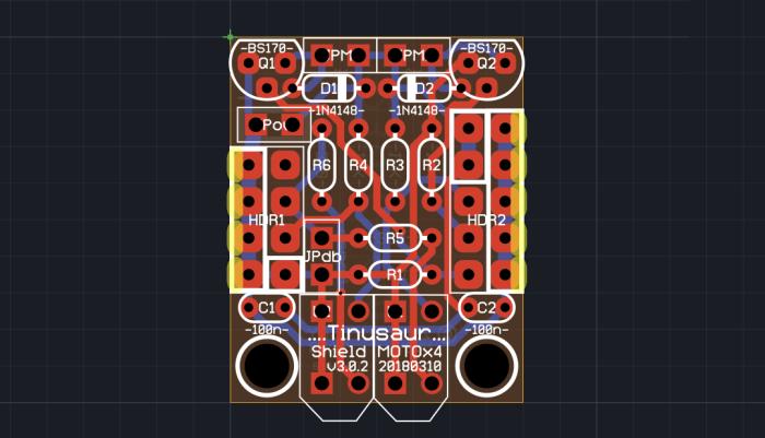 Tinusaur Shield MOTOx4