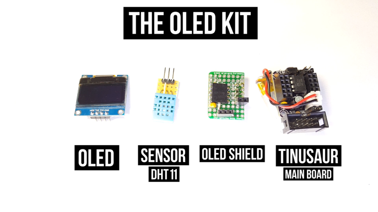 Crowdfunding campaign for the Tinusaur OLED Kit
